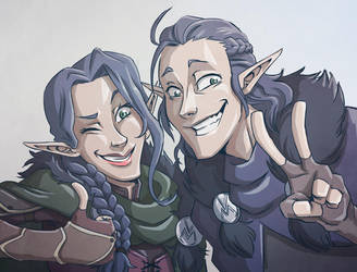 Critical Role Fun Twins by Takayuuki