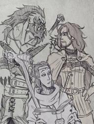 My DnD sketch by Takayuuki