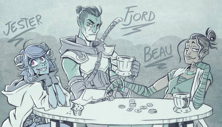 Critical Role - Fjord, Beau  and Jester by Takayuuki