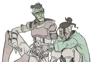 Critical Role - Beau asks Fjord how to say sorry by Takayuuki