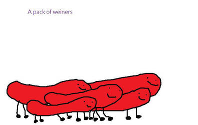 A Pack Of Weiners by hahakool1234