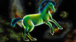 Green Cosmo Horse - Squiel by Ezequielmercado