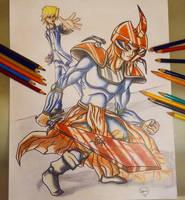 Joey Wheeler and Flame Swordsman by Ezequielmercado