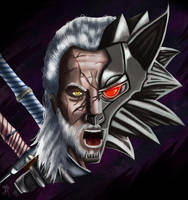 Geralt, the wolf by Ezequielmercado