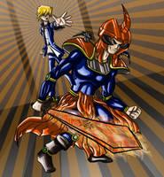 Joey Wheeler and the Flame Swordsman by Ezequielmercado