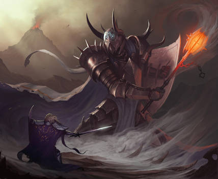 Morgoth vs Fingolfin by MorkarDFC