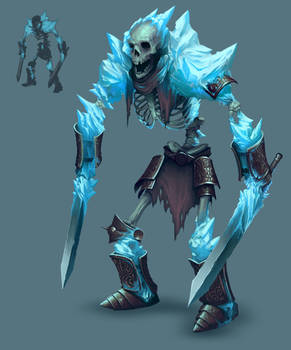 Frozen Maze - Ice Skeleton warrior by MorkarDFC