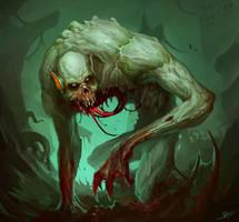 Lotleth Troll - MTG fanart by MorkarDFC