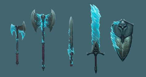 Frozen Maze - Weapon Set by MorkarDFC