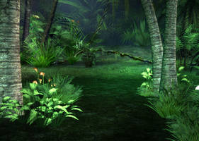 Jungle Pathway Background by Lil-Mz