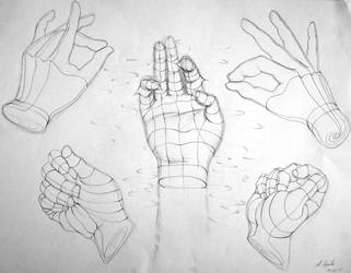 One of Us - hand study by Rogue-Android