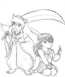Inuyasha and Kagome by Rogue-Android
