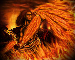 Thelliosse the God who Rei(g)ned Fire by Civis-Romanus-Sum