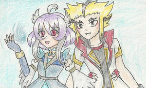 [Future Card Buddyfight Oc] Ciela x Bolt Fuchigami by MelosaFanatiOc