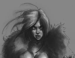 barbarian sketch face by M1keN