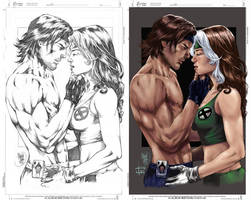 Gambit and Rogue by Abreu by IvannaMatilla