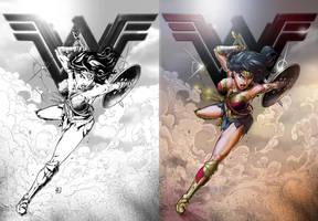 Wonder Woman colours by IvannaMatilla