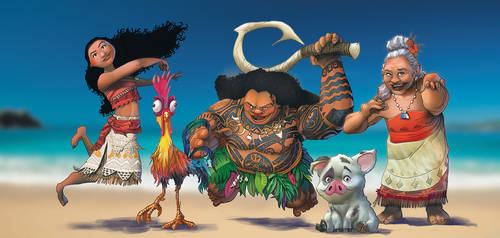 Moana and friends by IvannaMatilla