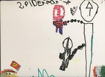 Spider-Man Red and Black by Kheprera