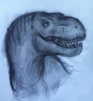Jurassic Park: T-Rex portrait by TheRavensBastard39