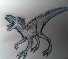 Indominus Rex concept sketch by TheRavensBastard39