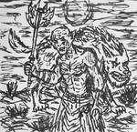 Azog the Defiler rough ink doodle sketch by TheRavensBastard39