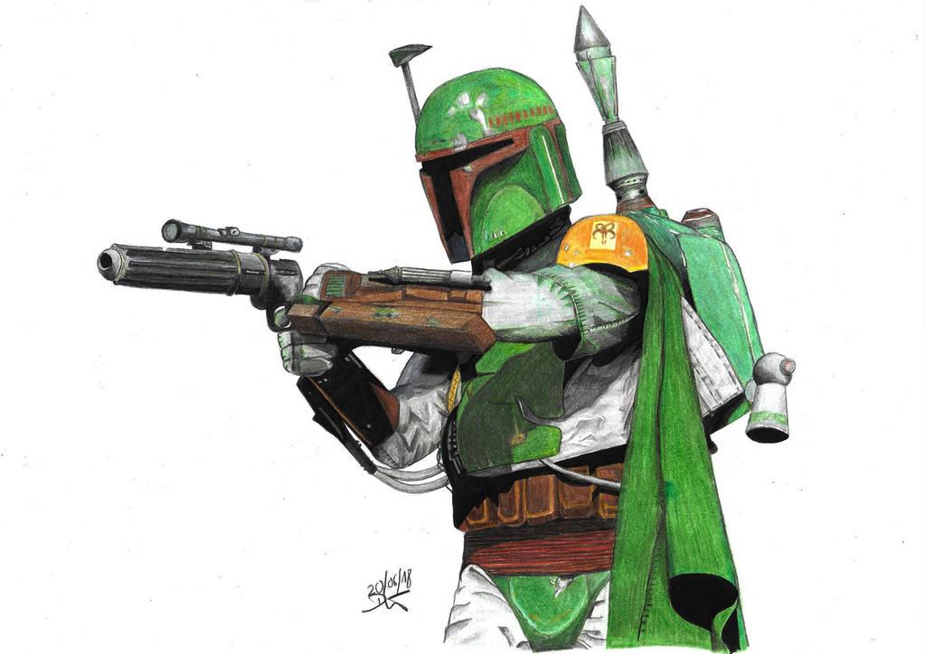 Boba Fett from Star Wars by daniart-de