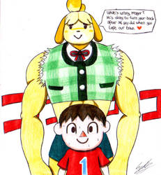Isabelle, Buffs Up! by sendy1992