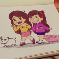 Bee and Mabel by irukaluvsdumplings