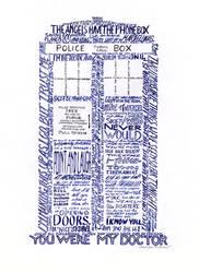 Word Art TARDIS by SynCallio