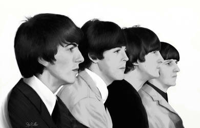 Portrait - The Fab Four by SynCallio