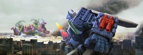 Fortress Maximus vs Scorponok by zhuyukun