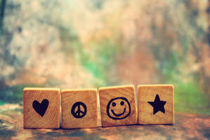 love. peace. smile. wish. by carolinexpaige