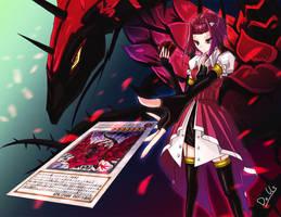 Aki Izayoi+black rose dragon by dolls-of-paradox