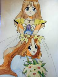 Wedding Peach: Angel Lily by CafiIder