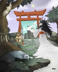 Yokai world by Daub-Sadwatcher