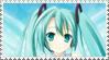 Miku Hatsune Stamp by capriciousgamzeee