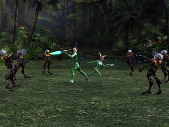 Allies in Battle - Full Shot by WickedPrince