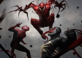 Symbiote brawl! by martianzombie