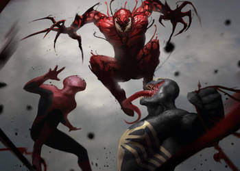 Symbiote brawl! by martianzombie
