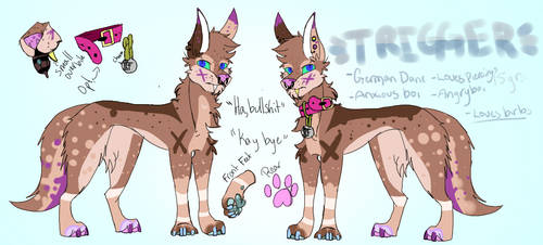 Trigger ~ MainSona {FURRY} by CanadaStrawberry