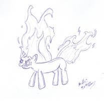 Twilight Sparkle Rage Sketch by alexsalinasiii