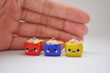 Rice Bowl Cube Charms by eserenitia