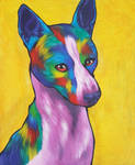 [Personal Art] Basenji Painting by Tigereyes6302