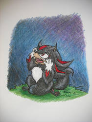 Werehog in Mourning by TheGreenDragonGirl