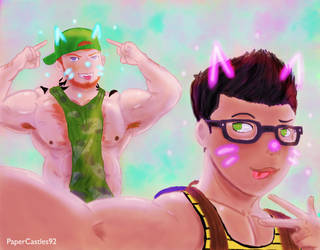 Selfie Kings by PaperCastles92