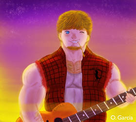 Curtis and his Trusty Guitar by PaperCastles92