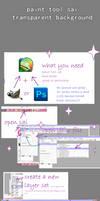 paint tool sai transparent bg tutorial by CarefulKoala