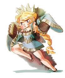 Brawler Princess by mystcloud