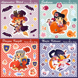 Sticker Sheets for 2014! by mystcloud